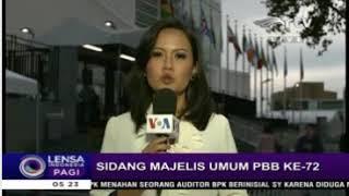 Laporan Langsung VOA untuk Lensa Indonesia Pagi RTV: Sidang Majelis Umum  PBB
