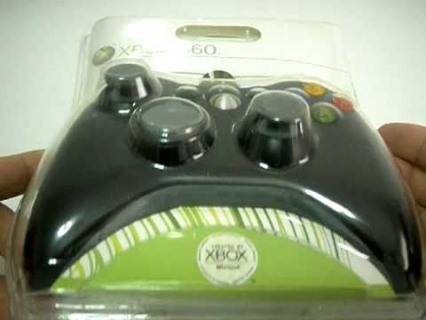 Unboxing Review XBOX 360 Wired Game Controller (Black) PC Windows
