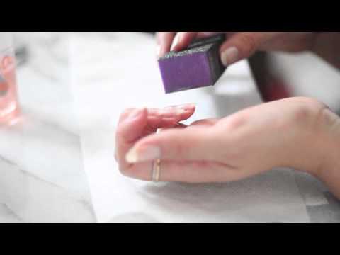 At Home Mani Tutorial with Baking Soda (Almond Shaped Kim Kardashian Nails)