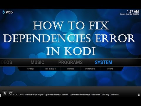 How to fix failed to install a Dependency error in Kodi 2018
