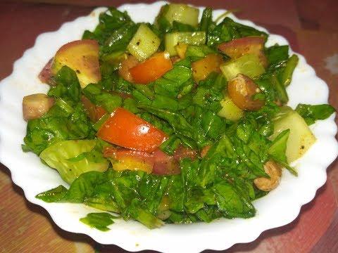 Healthy Palak salad Recipe  /Spinach salad Recipe (in hindi)