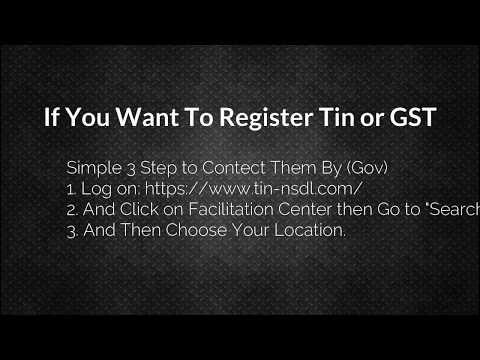 If You Want To Register Tin or GST