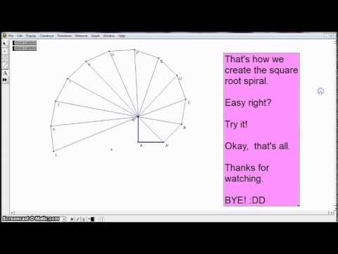 Square Root Spiral using Geometer's Sketchpad (GSP)