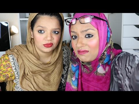 MAKEUP TUTORIAL WITH MY AUNTIES~ hijabadore