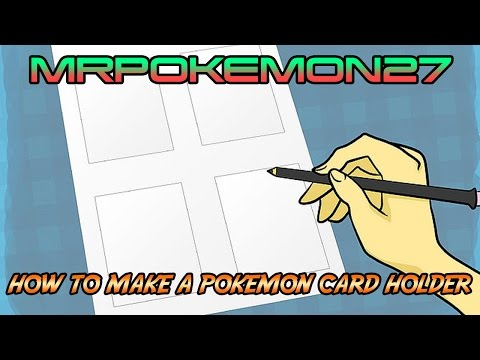 How to make a Pokémon card holder