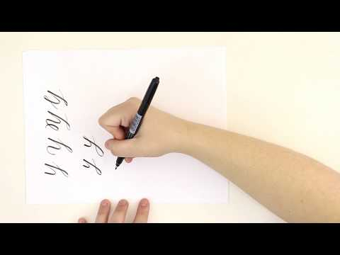 Brush Calligraphy Letter Y