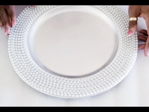 DOLLAR TREE BEADED CHARGER | UNDER $4.00 TO MAKE | QUICK, SIMPLE AND EASY | 2018