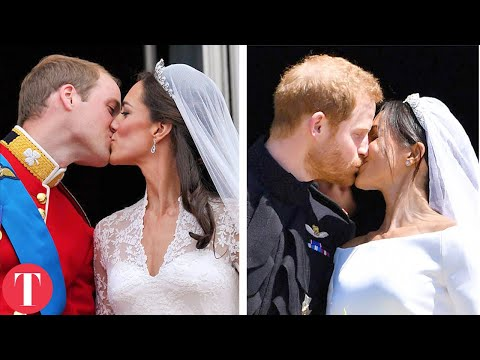 Royal Weddings Then Vs. Now: Meghan Markle, Kate Middleton, Princess Diana, Queen Elizabeth II