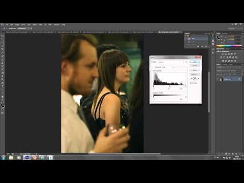 how to set white balance on JPG files in Photoshop CS6 CS5 CS4 using levels - short tutorial