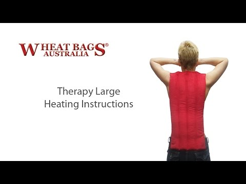 Wheat Bags Australia® - Therapy Large heating instructions