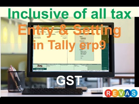 insclusive of all tax with cost entry and settings in tally ERP-9 # 56