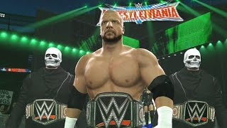 WWE 2K16 - Triple H Wrestlemania 32 Entrance w/ Skull Soldiers (Custom Entrance)