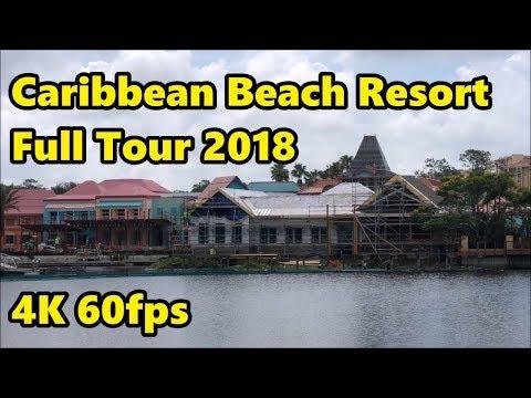 Disney's Caribbean Beach Resort - Full Tour & Construction Update - 4K 60fps
