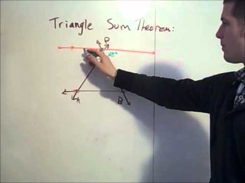 Triangle Sum Theorem Proof