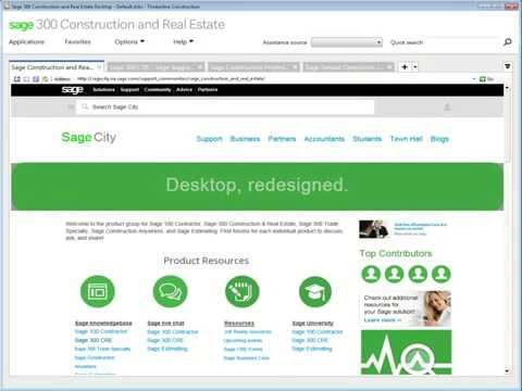 Sage 300 Construction and Real Estate - 16.1 Desktop: a First Look