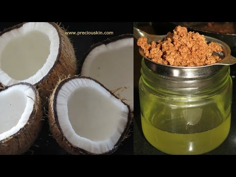 DIY - How to make Pure Coconut Oil at Home for Skin & Hair | Priyanka George