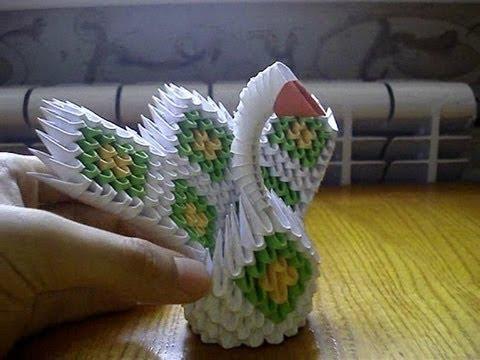 3D Origami Mini Peacock Tutorial