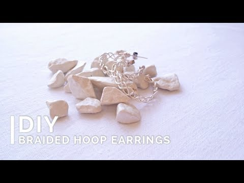 DIY Wire Earrings | Braided Hoops