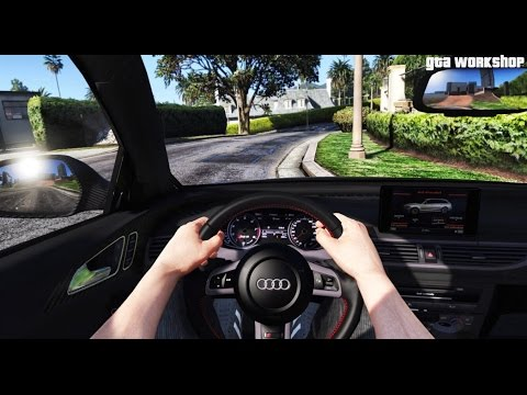 GTA 5 MOD | FIRST PERSON VIEW - Audi RS6 C7 - 2016 | COCKPIT VIEW | ENB PC - 60 FPS