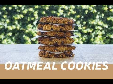 Chocolate chip oatmeal cookies - Bolachas de aveia com pepitas de chocolate | COOKING HAPPINESS