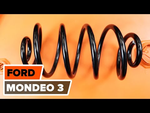 How to replace Rear Springs onFORD MONDEO 3TUTORIAL | AUTODOC