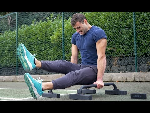 Core Workout on Parallettes