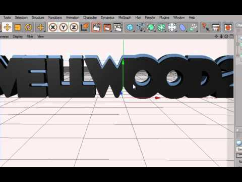 How to Make 3d Text in Cinema 4d | Render Settings|How to bring it into photoshop