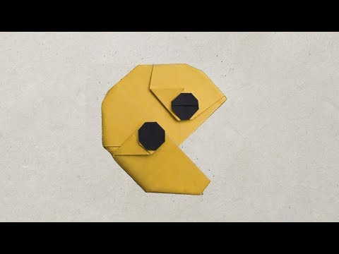 Tutorial Cara Membuat Origami Emoji :v 'Pacman' / How to Make Origami Emoticon 'Pacman' (Hadi Tahir)