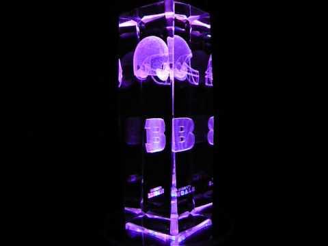 NFL Cincinnati Bengals 3D Laser Etched Crystal - 6 Inch -
