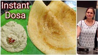 सिर्फ 10 मिनिट मे बनाए instant dosa & coconut chutney/Instant Dosa/South Indian Coconut chutney