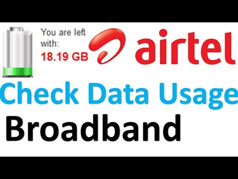 How to check Airtel broadband data usage online