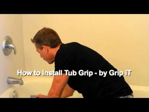 How to Install Tub Grip Clear Non Slip Bathtub Coating