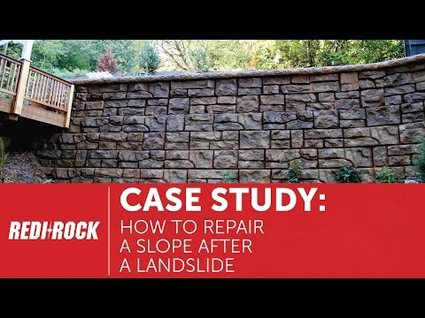 How to Repair a Slope After a Landslide: Redi-Rock Case Study