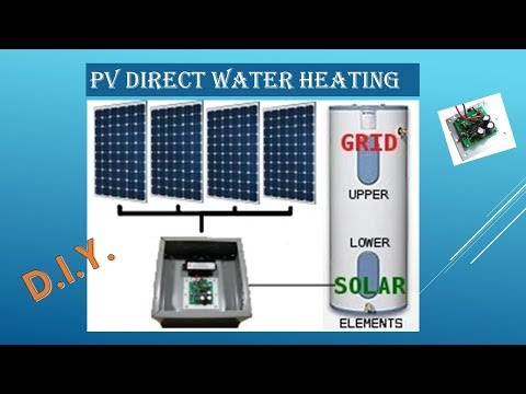 The Quest:  PV Direct Water Heating