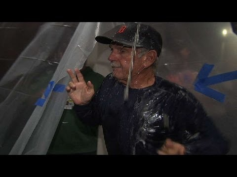 Torii carries Leyland into clubhouse party