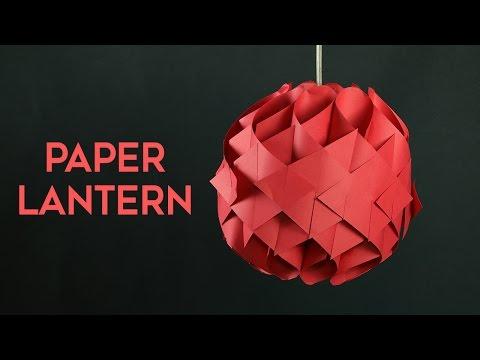 DIY Hanging Paper Lantern - How to Make Paper Lantern at Home