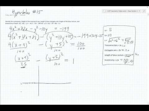 Kutasoftware Graphing and Properties of Hyperbolas #15