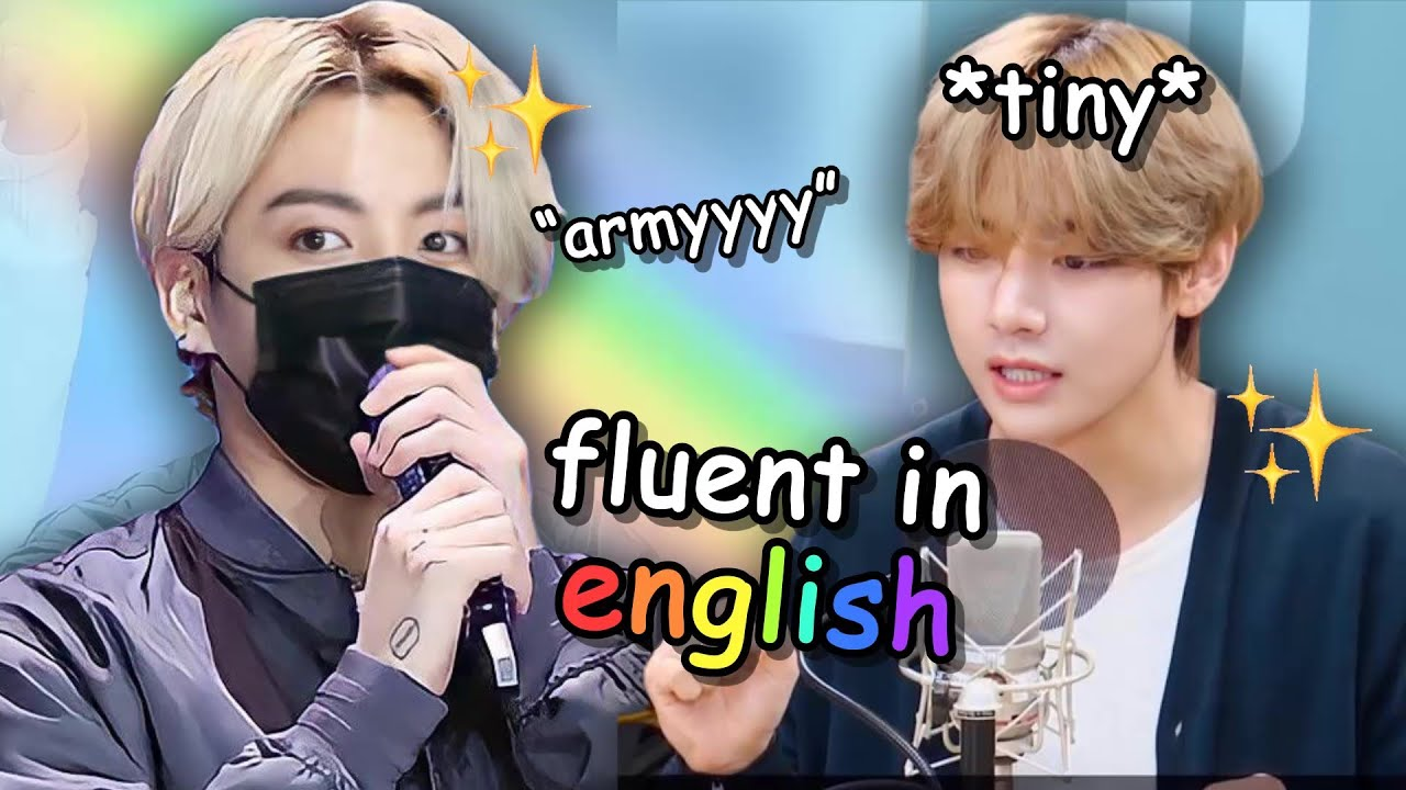 bts speaking english in tiny