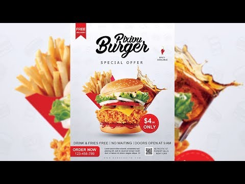 Burger Restaurant Flyer Design - Photoshop Tutorial