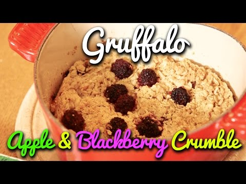 Gruffalo Apple & Blackberry Crumble from Crumbs and Family