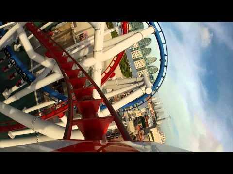 Battlestar Galactica Roller Coaster POV Universal Studios Singapore Human & Cylon