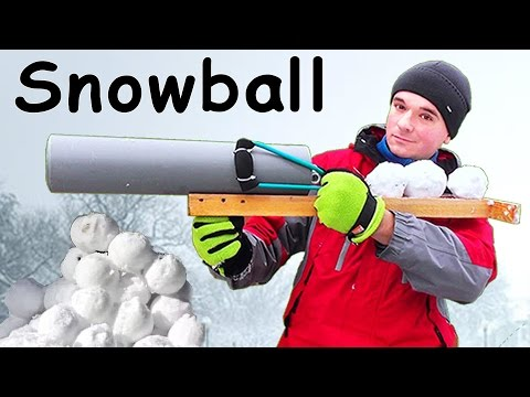 How to make a SNOWBALL GUN
