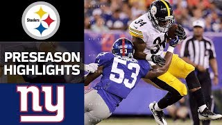 Steelers vs. Giants | NFL Preseason Week 1 Game Highlights