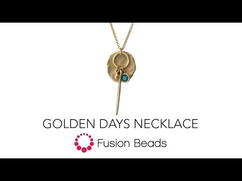 Learn how to create the Golden Days Necklace by Fusion Beads