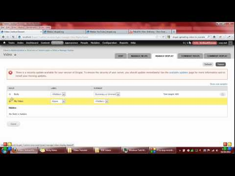 Drupal Video Setup Using Media and Media Youtube Module