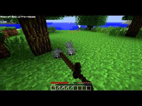 Minecraft 1.8 sword block! + Silverfish