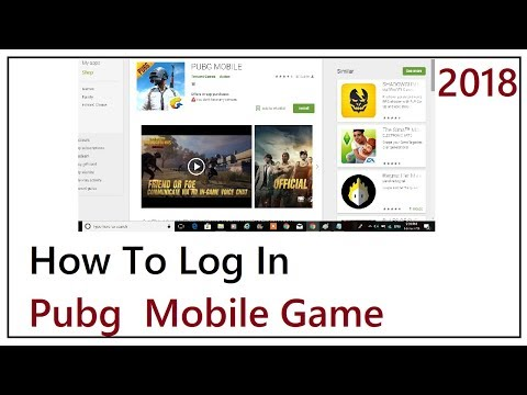 How To Log In pubg Mobile Game