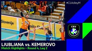 CLVolleyM ACH Volley LJUBLJANA Vs Kuzbass KEMEROVO Match Highlights Round 4 Leg 2