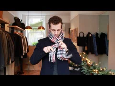 How a Modern Man can Tie His Scarves