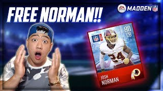 HOW TO GET A FREE ELITE JOSH NORMAN!! Madden Mobile 18